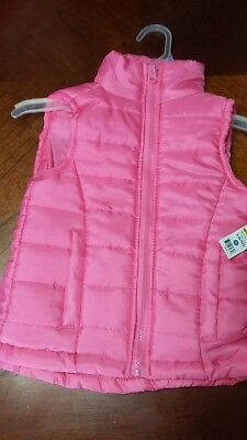 Girls pink vest New with tags small 6/6x