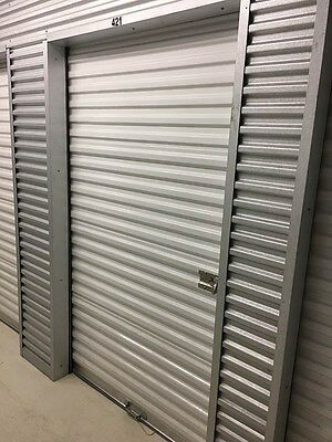4x7 White Roll up door with hardware