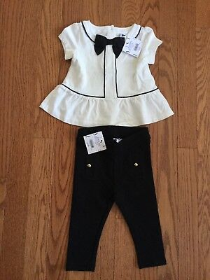 Janie And Jack Girl's NWT Outfit Set Top And Leggings Size 6-12 Months