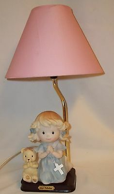 Praying Rosary Girl Bear Pink Lamp Joys Collection Childs Girl Baby