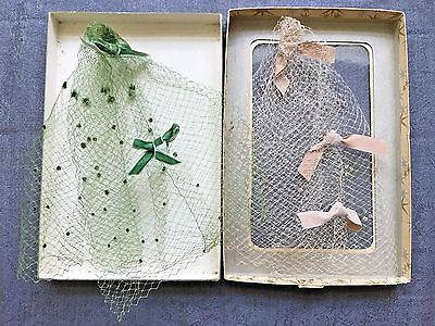 Vintage 1940's Netting Hats - With Original Box