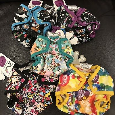 Lot: Nwt Tokidoki Kanga Care Rumparooz Os + Newborn Diaper Cover W/ Chaser Snaps