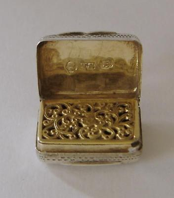 A William IV Sterling Silver Vinaigrette Birmingham 1832 Thomas Shaw