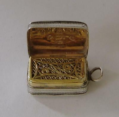 A George III Sterling Silver Vinaigrette Birmingham 1805 William Pugh