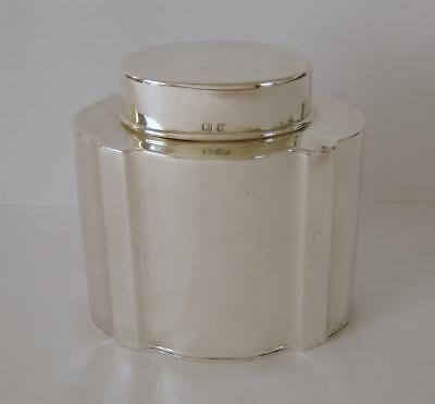 A Nicely Shaped Antique Sterling Silver Tea Caddy Birmingham 1916