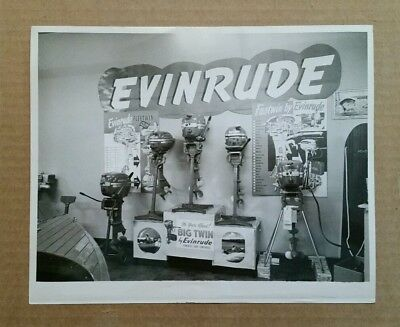Evinrude Outboard Motors,Store Display,Great VINTAGE Photo!!,1950's