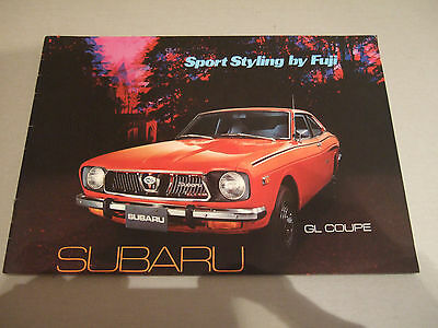 1970s SUBARU GL COUPE BROCHURE - SPORT STYLING BY FUJI - EXCELLENT CONDITION