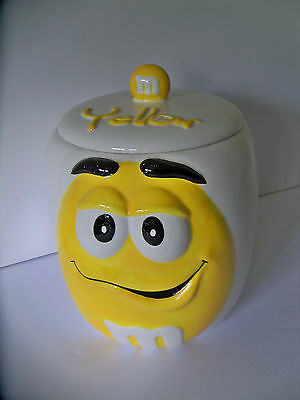 """Yellow M & M Candy 7.5"""" Cookie Jar by GALERIE"""