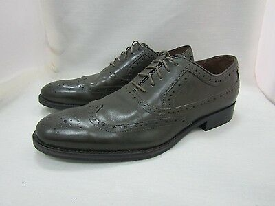 Johnston & Murphy Tyndall Men's Olive Leather Wingtip Oxfords Size 9 M