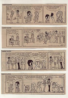 Campus Clatter by Larry Lewis - 26 daily comic strips - Complete October 1972
