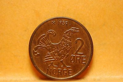 Norway, 1959 2 Ore, Hen, AU, small dig, No Reserve,                          831