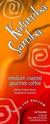 1Kg Medium Roasted Gourmet Coffee Beans - Karamba Samba