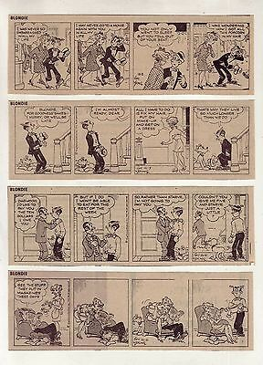Blondie & Dagwood by Chic Young - 26 daily comic strips - Complete October 1972
