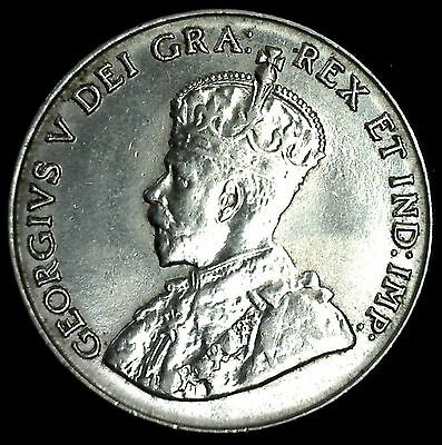 1929 Canadian Imperial Crowned Two Leaf Nickel 5 Cents Piece MS Coin Five-Cent