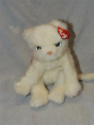 TY Beanie Baby Buddy Buddies Classic Isis White Cat Kitten Rare With Tag Persian