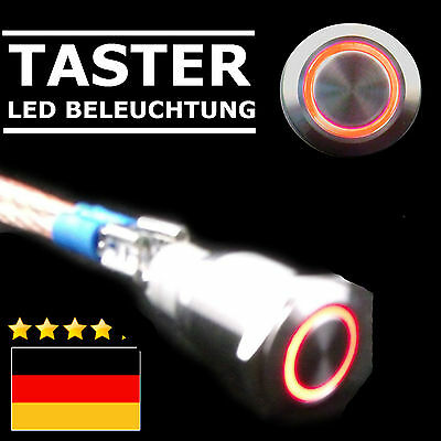 LED Beleuchtung Knopf Hupe Hupenknopf Auto Traktor rot Fendt McCormick Farmer