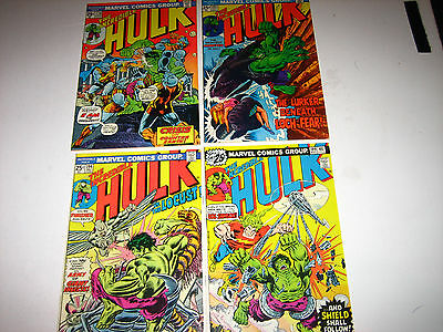Incredible Hulk #176.192.194 & 199 F