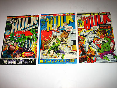 Incredible Hulk #153.154 &162 VG