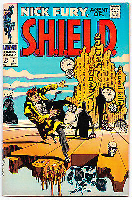 Nick Fury, Agent of Shield #7 (Steranko) - Marvel Comics (Dec. 1968) Fine