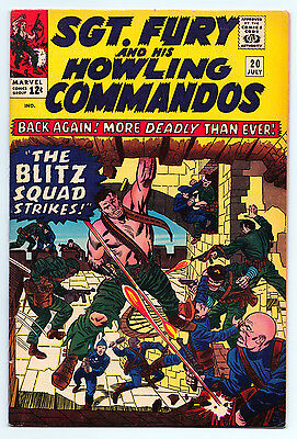 Sgt. Fury And His Howling Commandos #20 - Marvel Comics (July 1965) Fine+