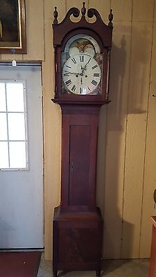 PA Cherry Tall Case / Grandfather Clock c. 1820