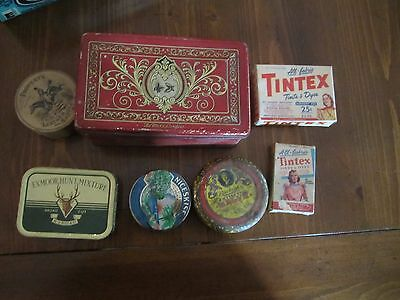 Miscellaneous vintage and other tins