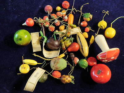 Vtg Millinery Flower Fruit Berry Vegetable Variety Collection 3/8-2 Shabby H1622
