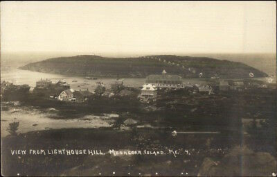 Monhegan ME From Lighthouse Hill c1910 Real Photo Postcard