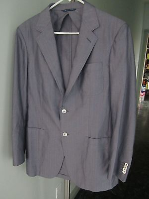 Fabulous Mens Canali Kei Unconstructed Silk Cotton Blazer Pearl Buttons 50 40R