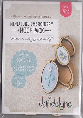 Miniature Embroidery Hoop Pack - 4 Vertical Oval Hoops - 2 sizes - fun Jewellery