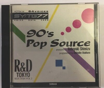 90's Pop Source - Voice Data Card for Yamaha SY77 Synth Keyboard