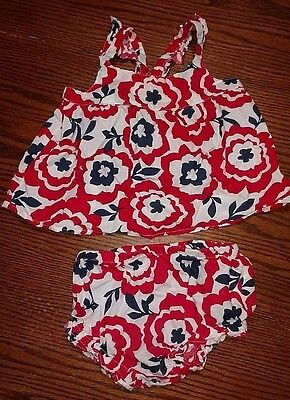 Old Navy baby infant girl SZ 6-12 mo outfit - red, white & blue