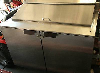 """Victory 48"""" Stainless Sandwich Salad Prep Bench Table Cooler"""