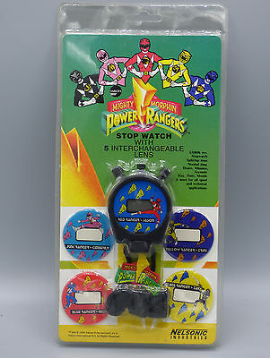 Power Rangers Mighty Morphin Character Stop Watch Vintage 1994 Nelsonic New