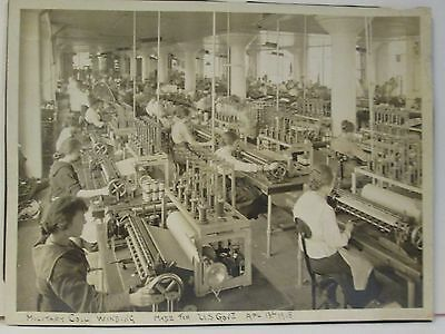 HISTORICAL PHOTO OF LADIES WORKING IN A MILITARY COIL WINDING CO. ca.1918