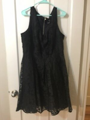 TORRID REBEL WILSON black lace skater dress 16 never worn with tags ... 82a7b9a83