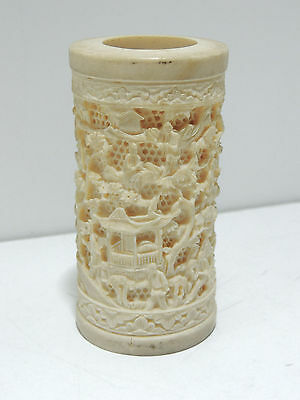 Highly Detailed Carved Miniature Chinese Vase