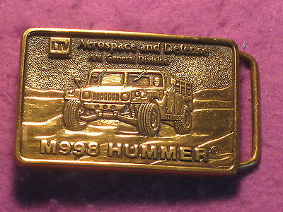 M998 Hummer Humvee Belt Buckle 1985