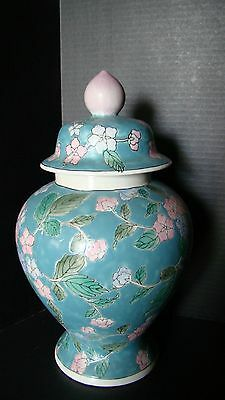 Large Hand Painted Chinese Ginger Jar