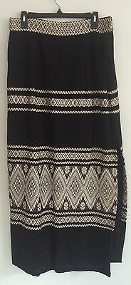 Vintage - Long Skirt- Hand Loomed  - Made By Lanra In Mexico