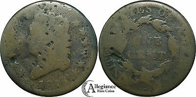 1814 1c Classic Head Large Cent AG detail solid CHEAP rare old type coin money