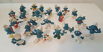 VERY RARE BULK LOT OF SMURFS SMURF FIGURINES DOLLS VINTAGE 60s 70s 80s