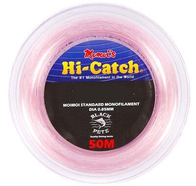 Momoi Hi-Catch 50m Pink Monofilament Leader 150 to 300lb