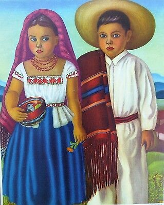 """Vintage Original  Mexican Advertising Poster """"The Little Brothers"""""""