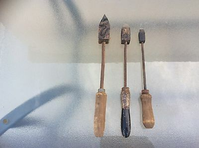 3 X Vintage Antique Soldering Tools