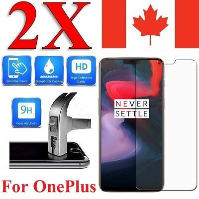 Premium Tempered Glass Screen Protector Cover for Oneplus 7 6 6T 5 5T 3 (2 PACK)