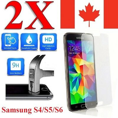 2x Plastic / Tempered Glass Screen Protector For Samsung Galaxy S6 & S6 Edge