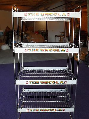 Vintage 7 Up Wire Display Rack Peter Max Style Signage