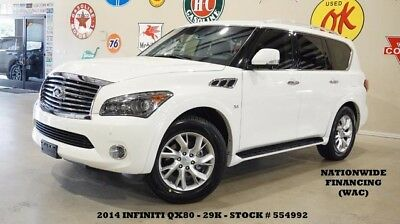 2014 Infiniti QX80 14 QX80,SUNROOF,NAV,BACK-UP,360 CAM,REAR DVD,HTD L 14 QX80,SUNROOF,NAV,BACK-UP,360 CAM,REAR DVD,HTD LTH,20IN WHLS,29K,WE FINANCE!!