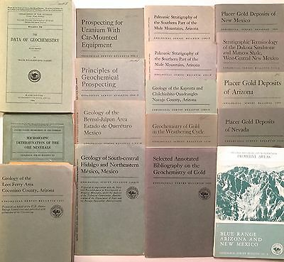16 Geological Survey Bulletins USGS - New Mexico, Arizona, Nevada, Mexico Maps